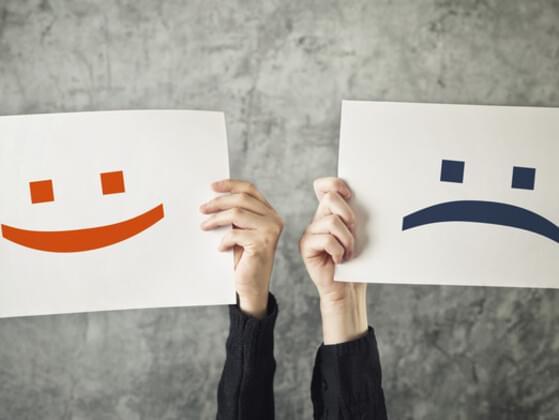 When you use sites like Facebook, do you feel happier or unhappier?
