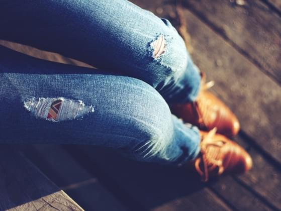 Do you wear jeans with holes or rips in them?