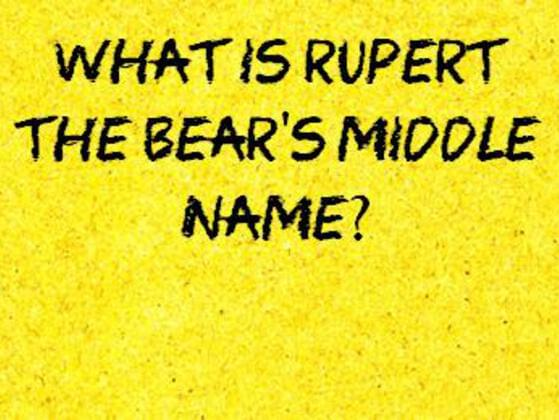 What is rupert the bear's middle name?