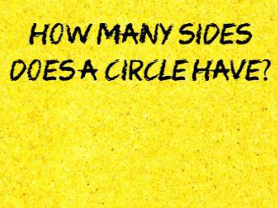 How many sides does a circle have?