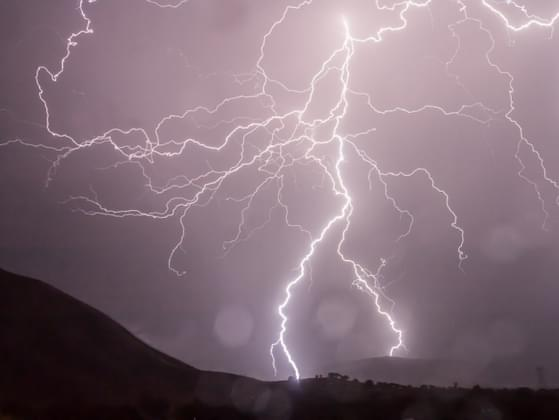 If lightning strikes an orchestra, who is most likely to get hit?