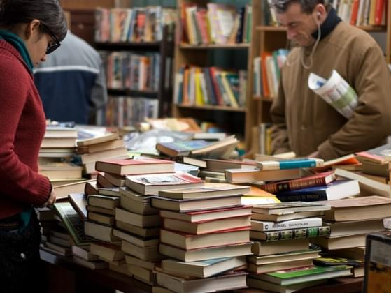 How do you choose a book in a bookstore?
