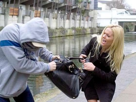 You are walking in the street. A thief snatch your bag and run away. You...