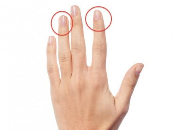Is your index finger longer than your ring finger?