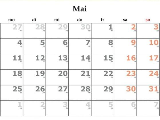 Pick a month