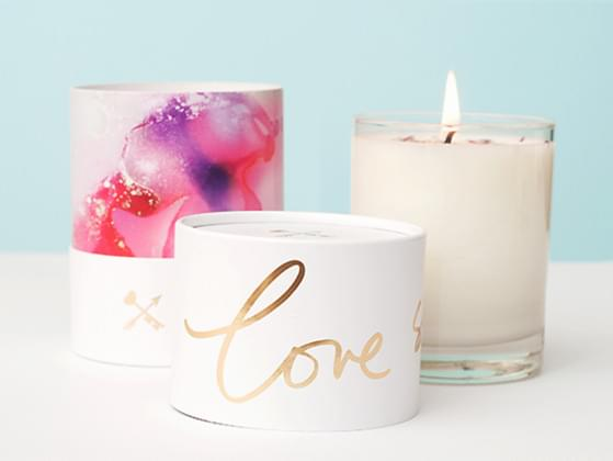 Gift her a pair if Love candles to remind how much you love her.