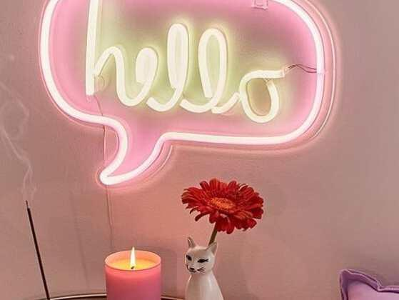 Want to gift her something really cool? Try your hands on the trendy Neon signs. Gift her a neon Hello Sign to remind her that she had you at hello!