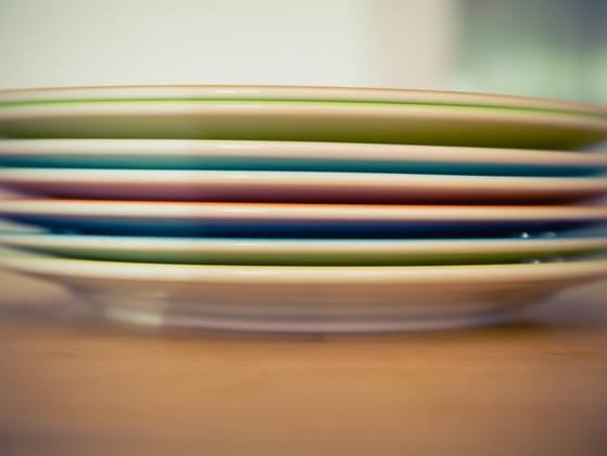 Which side do you typically put the bread plate on?