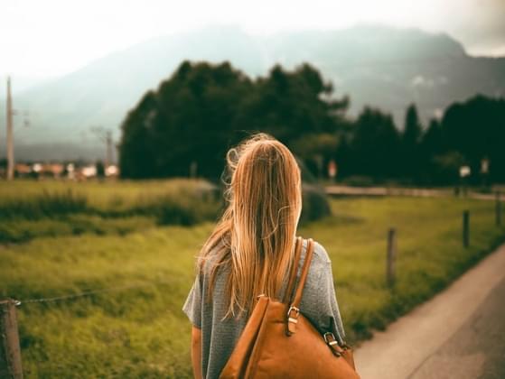 When walking, where do you look?