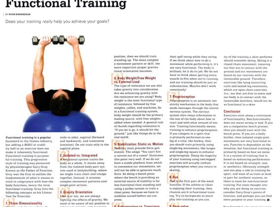 Do you read articles on fitness ?