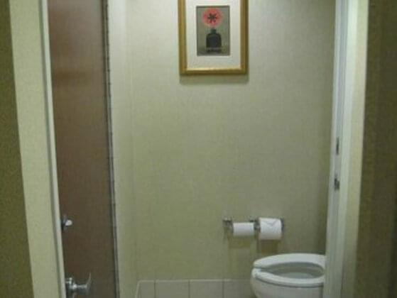 While going for a loo, you keep the door...
