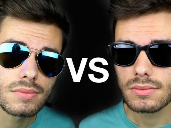 Which sunglasses fit more faces - Aviator or Wayfarer?