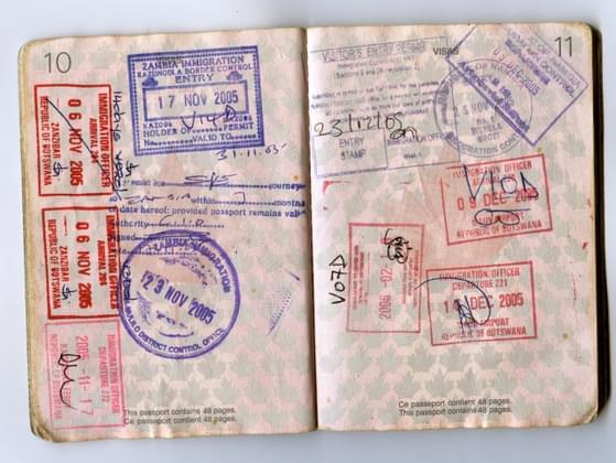 How many stamps are on your passport?