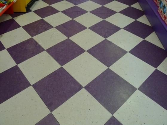Would you ever put checkered flooring in your kitchen?