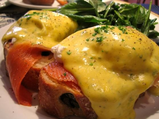 How would you cook eggs in order to make eggs benedict?
