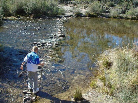 How would you cross a river which is blocking your trail?