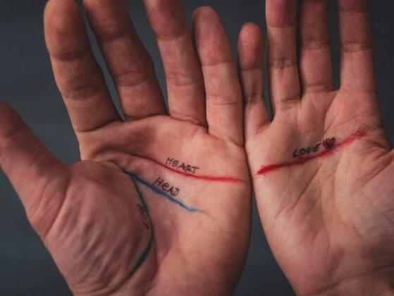 Find the lifeline on your dominant hand. Does it…