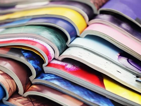 Choose a magazine to flip through....