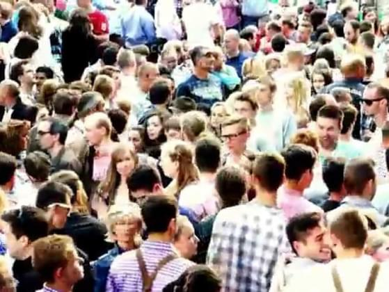 How often do you feel anxious or nervous when in the midst of a large crowd?