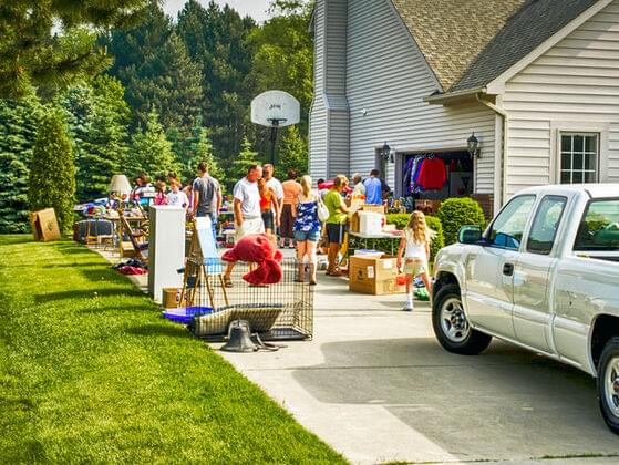 What would you call a sale of unwanted items in your front yard or garage?
