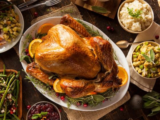 What food does more than 90 percent of Americans eat on Thanksgiving?