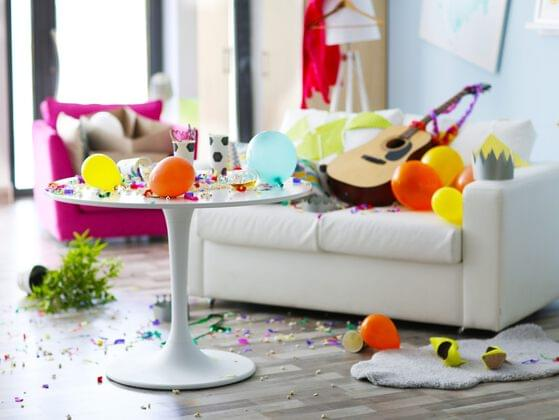 Which of these messes did your roommate make?