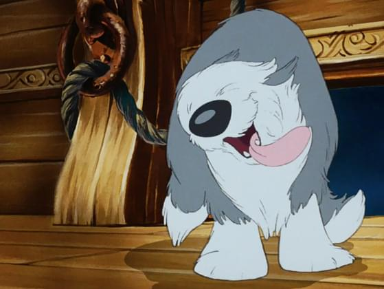The big, fluffy dog from The Little Mermaid is perfect for cuddles! What's his name?