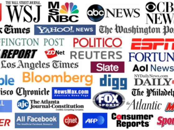 Which media outlet was identified as the most trusted in a Pew Research Center poll from 2014?