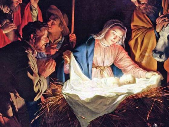 Who were the first people to visit baby Jesus in the story of the nativity?