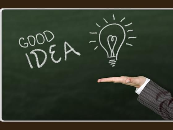 Do you prefer to come up with your own ideas or use the good ideas of others?