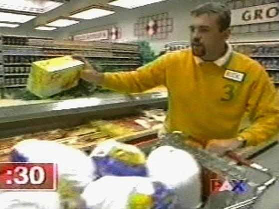 Which TV game show featured a shopping spree at the very end of each segment?