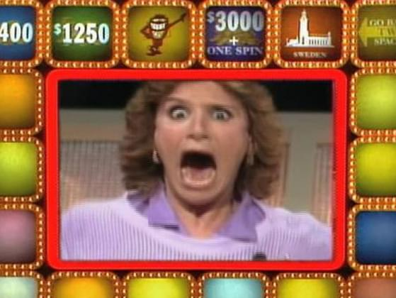 Which TV game show was known for a red cartoon creature with a high-pitched voice that brought contestants misfortune?