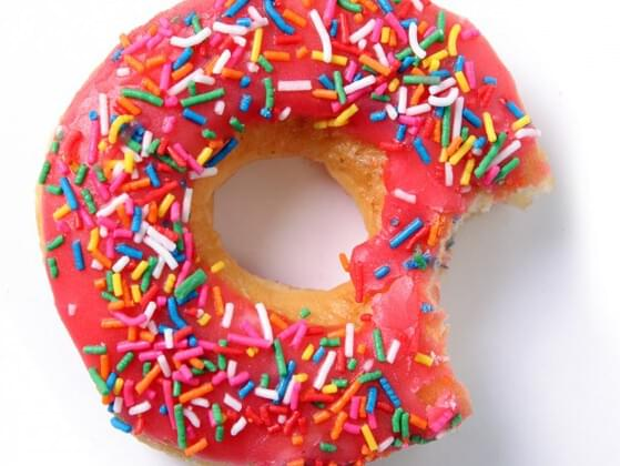 Pick some sprinkles for your doughnut