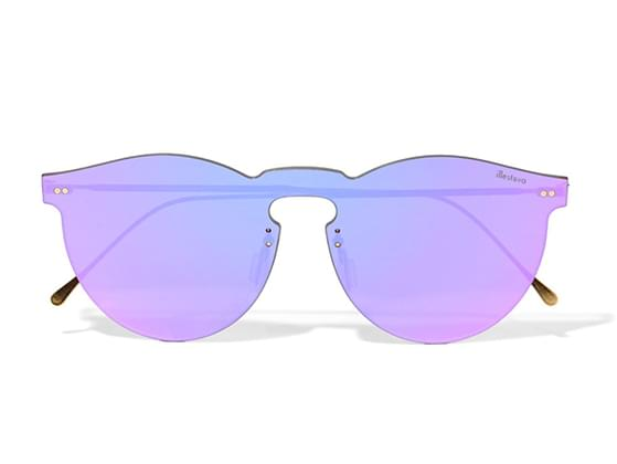 Did you put on sunglasses with colored lenses?