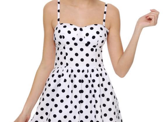 Something in polka dots?