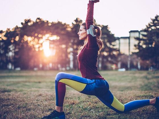 What warm-up exercise do you do before starting the work?