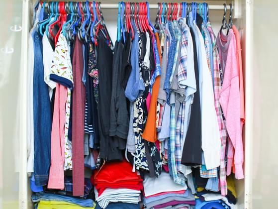 How do you organize clothing?