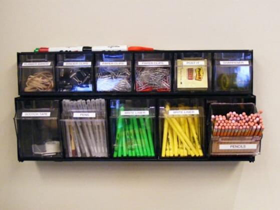 How do you organize items?