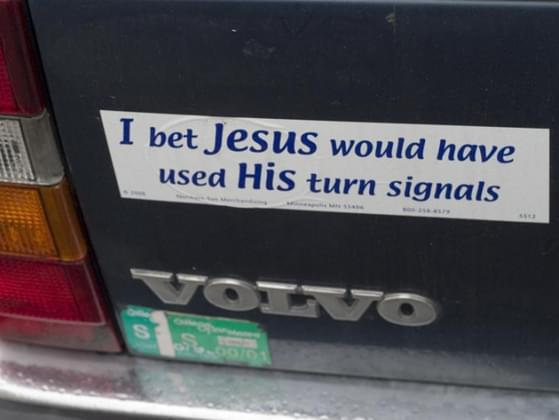 Which bumper sticker would you most likely put on your car?