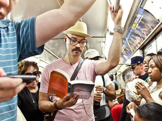 Do you also read when you are on public transport?