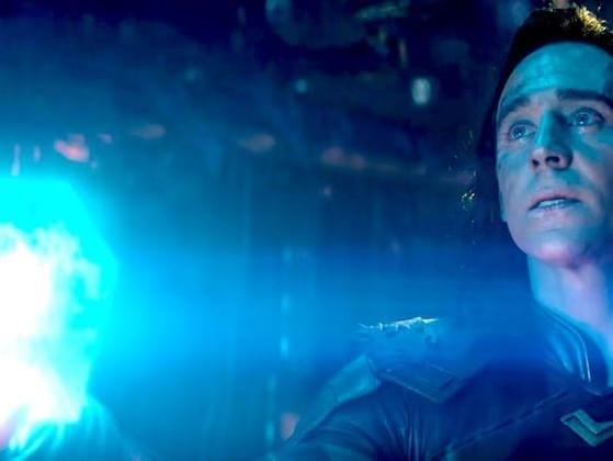What's the name of the mysterious blue glowing cube that Loki uses as a weapon?