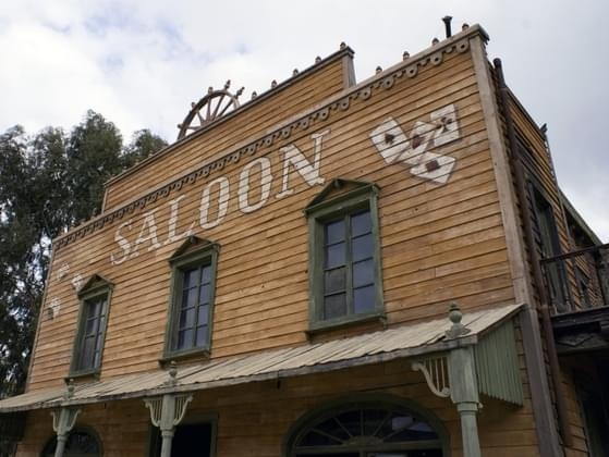 When you enter a saloon, do you announce yourself?