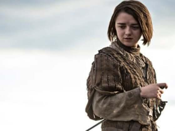 What piece of fencing advice did Jon Snow give to Arya Stark?