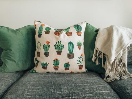 How many pillows are on your couch at any given time?