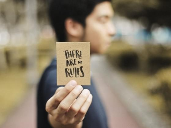 To progress in life, must a person always follow the rules?