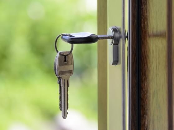 You lock your door...