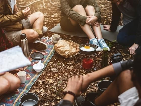 When you go camping with a group, what sort of duties do you perform?