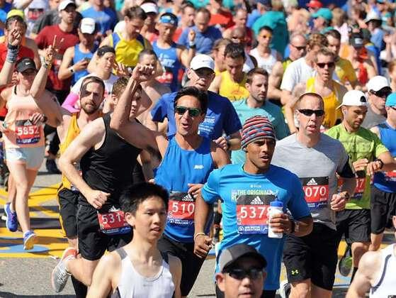 The length of the Boston Marathon course is?
