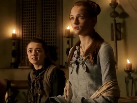 True or False: actresses Maisie Williams and Sophie Turner, who play Arya and Sansa, don't like each other.