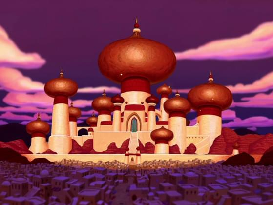 In which of these fictional lands is Aladdin set?